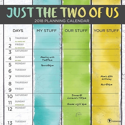 Tf Publishing 2018 Just The Two Of Us Wall Calendar (18-1061)