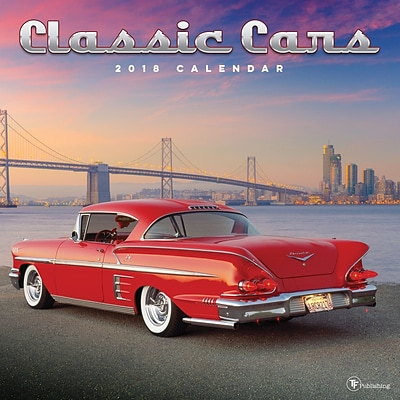 Tf Publishing 2018 Classic Cars Wall Calendar (18-1039)