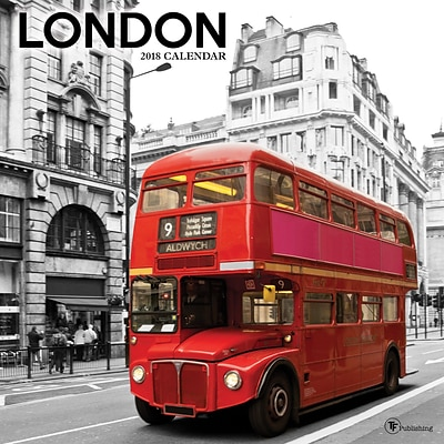 Tf Publishing 2018 London Wall Calendar (18-1168)