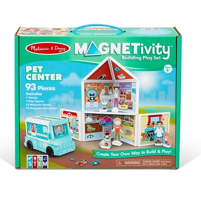 Melissa & Doug Magnetivity Building Play Set Pet Center (30651)