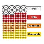 Dowling Magnets Magnet Math™ Magnetic Place Value Disks & Headings, Grades 1-3, 144 per pack (DO-732