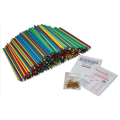 Pacon Colored Artstraws® Assortment, 15.5 x 6 mm, Assorted Colors, 900 Pieces (PACAC9231)