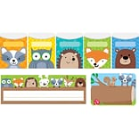 Creative Teaching Press Woodland Friends Name Plate/Label/Pockets Combo Set, 107 ct, 9 1/2 x 4 1/4