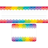 Creative Teaching Press Rainbow Name Plate/Label Combo Set, 72ct, 9 1/2 x 3 1/4 (CTP8939)