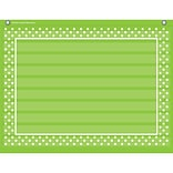 Teacher Created Resources 10 Pocket Pocket Chart, Lime Polka Dots  (TCR20777)