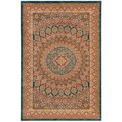 Mohawk Polyester Wanderlust Hase Sapphire Area Rug (797786000767)
