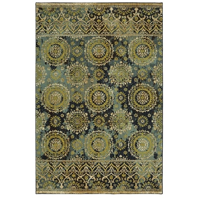 Mohawk Polyester Wanderlust Nahe Sapphire Area Rug (797786000828)