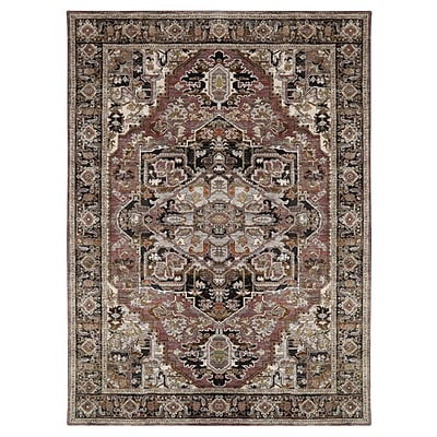 Mohawk Polyester Wanderlust Aude Charcoal Area Rug (797786000989)