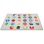 A-Z Activity Seating Rug; 9x12, Rectangle