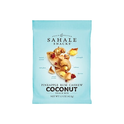 Sahale Snacks Snack Mix, Pineapple Rum Cashew Coconut, 1.5 oz., 18/Carton (9386900079)