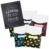 Creative Teaching Press Chalk It Up! Lesson Plan Book & 9x12 Library Pocket Organizers Combo (CTP8