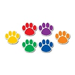 Teacher Created Resource Colorful Paw Prints Magnetic Accents, 6 x 0.4 x 7Assorted Colors, 18 per