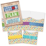 Creative Teaching Press Upcycle Style Lesson Plan Book & 9x12 Library Pocket Organizers Combo (CTP