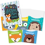 Creative Teaching Press Woodland Friends Lesson Plan Book & 9x12 Library Pocket Organizers Combo (