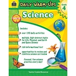 Teacher Created Resources Daily Warm-Ups: Science Grade 4 Education Printed Book for Science, Book,