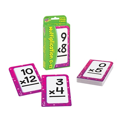 Multiplication 0-12 Pocket Flash Cards for Elementary, 56/Pack (T-23006)