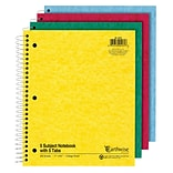 Oxford Earthwise Recycled 5-Subject Notebook, 8-1/2 x 11, College Ruled, 200 Sheets, Assorted Colo