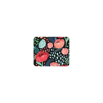 OTM Essentials Black Mouse Pad, Garden Party (OP-MH-Z072A)