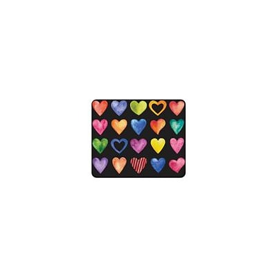 OTM Essentials Black Mouse Pad, Color Hearts (OP-MH-Z075A)