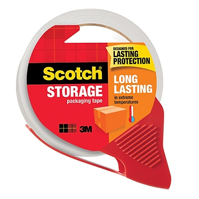 Scotch® Long Lasting Moving & Storage Packing Tape with Dispenser, 1.88 x 54.6 yds., Clear (3650-RD)