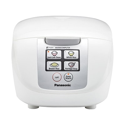 Panasonic 1.8 ltr Microcomputer Controlled/Fuzzy Logic One-Touch Rice Cooker, White (SR-DF181)