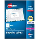 "Avery Laser/InkJet Shipping Labels, Sure Feed Technology, Permanent Adhesive, 3-1/2"" x 5"", 1,000 Lab"