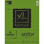Canson XL Recycled Sketch Paper Pad 11X14-100 Sheets