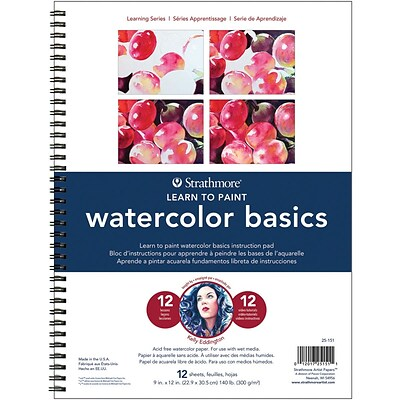 Strathmore Learn To Paint Wire Pad 9X12-Watercolor Basics