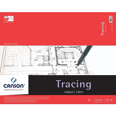 Canson Foundation Series Tracing Paper Pad 19X24-50 Sheets