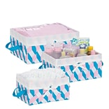 Honey Can Do Twisted Tote Set of 3, Pink, Blue, White ( STO-06680 )