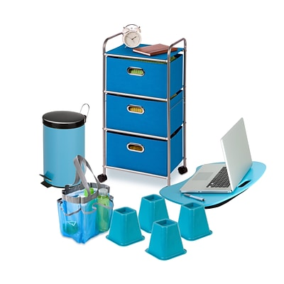 Honey Can Do Dorm Essentials Set, Blue