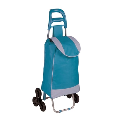 Honey Can Do R92022 - rolling fabric bag cart with tri wheels, Blue ( CRT-03932 )