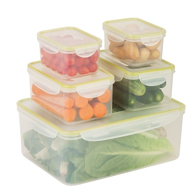 Honey Can Do snap lock 10 piece set, clear ( KCH-03831 )