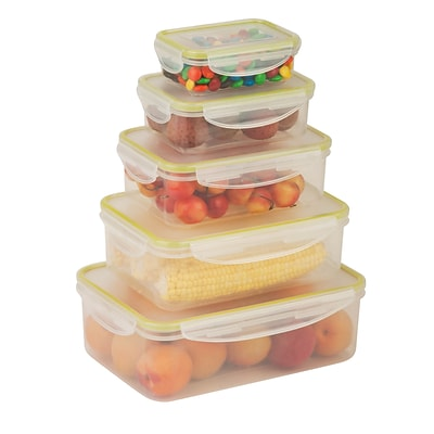 Honey Can Do snap lock 10 piece set, clear ( KCH-03829 )