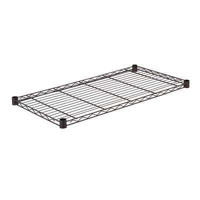 Honey Can Do Steel Shelf-350lb black 18x36, black ( SHF350B1836 )