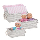 Honey Can Do Zig Zag Set of 3 Baskets, Gray ( STO-06686 )
