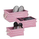 Honey Can Do Zig Zag Set of 3 Baskets, Hot Pink ( STO-06688 )