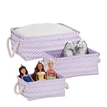Honey Can Do Zig Zag Set of 3 Baskets, Lilac Purple ( STO-06682 )