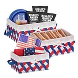 Honey Can Do Twisted Tote Set of 3, Red White Blue ( STO-06676 )