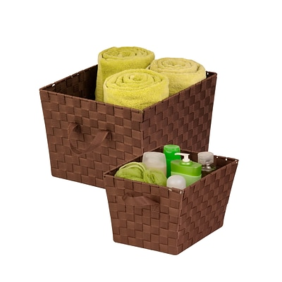 Honey Can Do 2-pack baskets - Lg & Med, java brown ( STOX05042 )