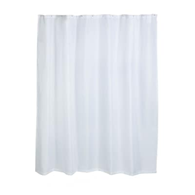 Honey Can Do Fabric Shower Curtain Liner White Bth 03293