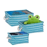 Honey Can Do Zig Zag Set of 3 Baskets, Blue ( STO-06689 )