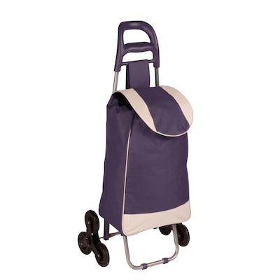 Honey Can Do R92022 Rolling Fabric Bag Cart With Tri Wheels, Plum ( Crt 03934 )