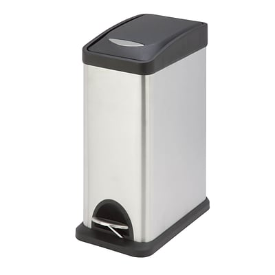 Honey Can Do 8L rectangular stainless step can, stainless ( TRS-06309 )