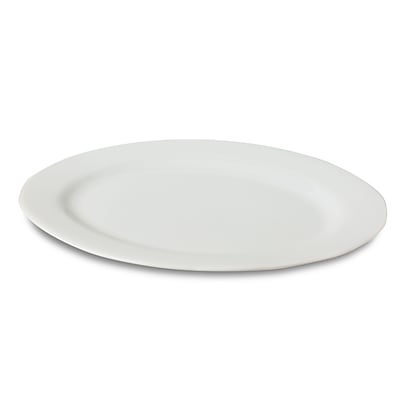 Honey Can Do Porcelain Oval Platter, 12 Inch by 17.5 Inch, white ( 8143 )