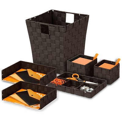 Honey Can Do Woven Desk Organization Kit, espresso ( OFCX05065 )