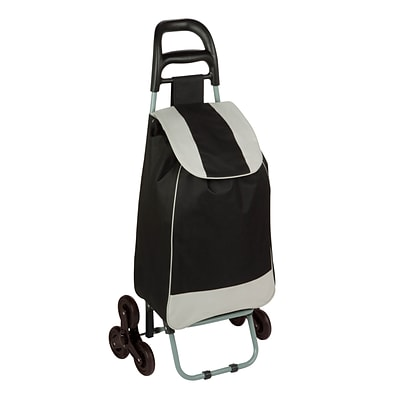 Honey Can Do R92022 - rolling fabric bag cart with tri wheels, black/grey ( CRT-03933 )