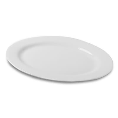 Honey Can Do Porcelain Oval Platter, 13.5 Inch by 19.5 Inch, white ( 8144 )