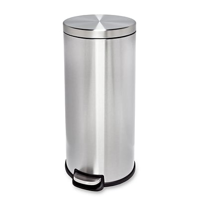 Honey Can Do 30L Stainless Steel Step Trash Can, stainless ( TRS-01238 )