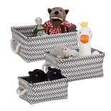 Honey Can Do Zig Zag Set of 3 Baskets, Gray ( STO-06690 )